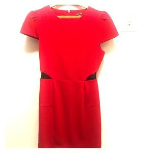Red dress with small lace sides. Size M.